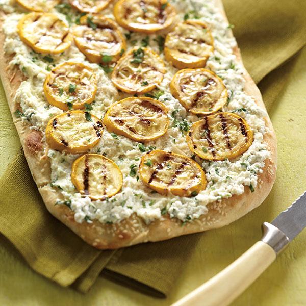 Pizza With Ricotta, Artichokes, And Onions Recipe — Dishmaps