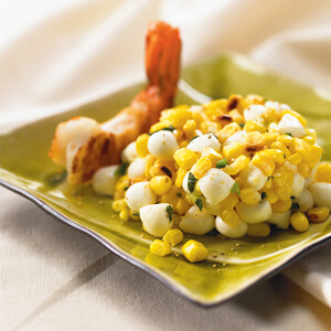Grilled Corn and Shrimp Tre Stelle® Bocconcini Pearls Salad