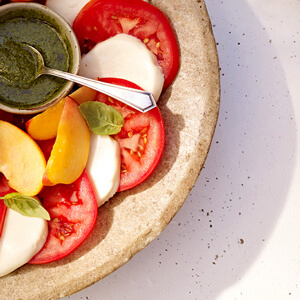 Golden Caprese Salad with Tre Stelle® Bocconcini