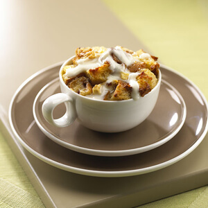 Apple Bread Pudding with Tre Stelle® Mascarpone Honey Cream