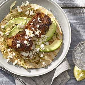 Tre stelle recipe tre stelle parmesan encrusted tilapia for Cajun fish tacos